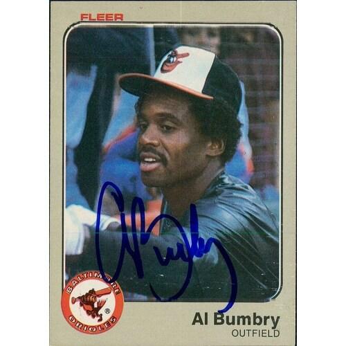 Signed Bumbry Al Baltimore Orioles 1983 Fleer Baseball Card Autographed