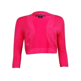Jessica Howard Women's 3/4 Sleeve Sweater Cardigan - Fushia - 6
