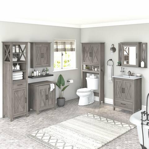 Key West Farmhouse Bathroom Set with 24W Vanity by Bush Furniture