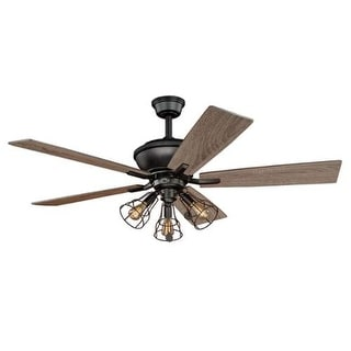 "Vaxcel Lighting CLYBOURN52 Clybourn 52"" 5 Blade Ceiling Fan with Vintage Edison Bulbs"