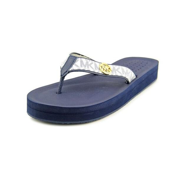 576e56526 Michael Michael Kors Gage Flip Flop Women Synthetic Blue Flip Flop Sandal