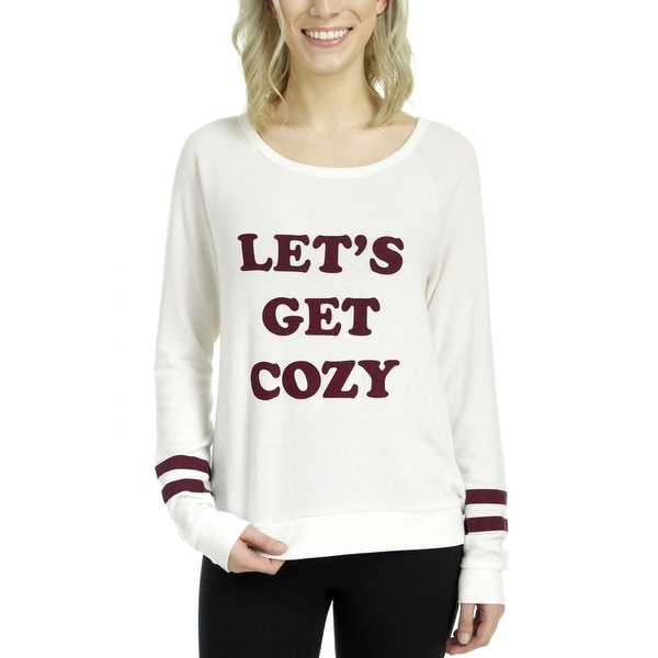 10da54cf1a Shop PJ Salvage Women s Lets Get Cozy Long Sleeve Sleep Tee - Free Shipping  Today - Overstock - 19214553
