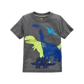 Carter's Baby Boys' Dinosaur Jersey Tee, 12 Months - gray