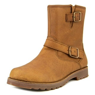Ugg Australia Harwell Youth Round Toe Leather Brown Boot