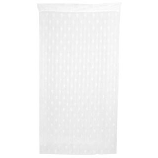 Door Window Heart Pattern Tassel Divider Decoration String Curtain White