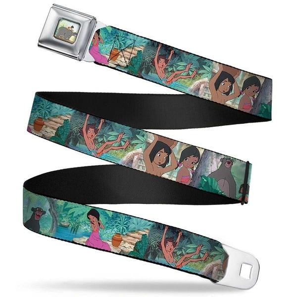 Mowgli Riding Baloo Full Color The Jungle Book Scenes Webbing Seatbelt Belt Seatbelt Belt