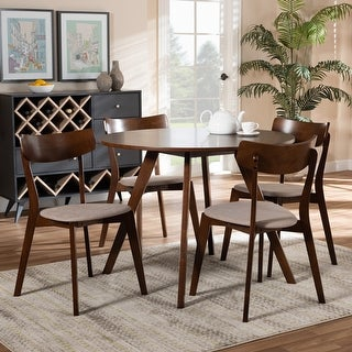 Link to Rika Mid-Century Modern Transitional 5-Piece Dining Set Similar Items in Dining Room & Bar Furniture
