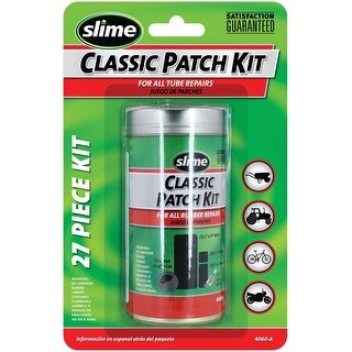 Slime 20189/4060-A Classic Tire Repair Patch Kit, 27 Piece