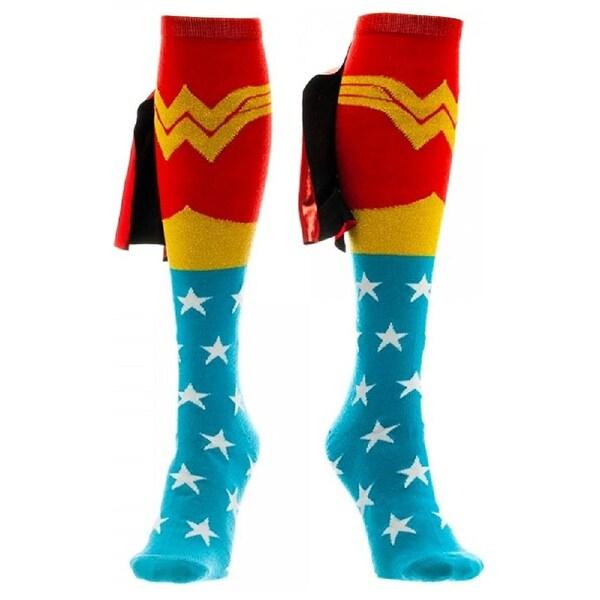 Wonder Woman Knee High Cape Socks