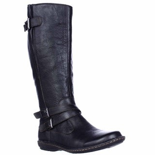 B.O.C. Born Concept Barbana Wide Calf Riding Boots - Black