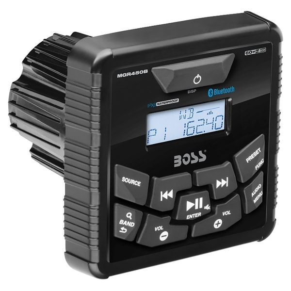 Boss Audio MGR450B In-Dash Marine Gauge Digital Media Bluetooth Audio Streaming AM/FM Receiver