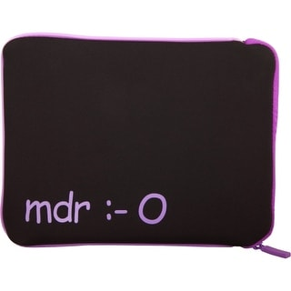 "Urban Factory TAB02UF Urban Factory Carrying Case (Sleeve) for 10"" Tablet PC - Purple - MDR (mort de rire) Emotion"