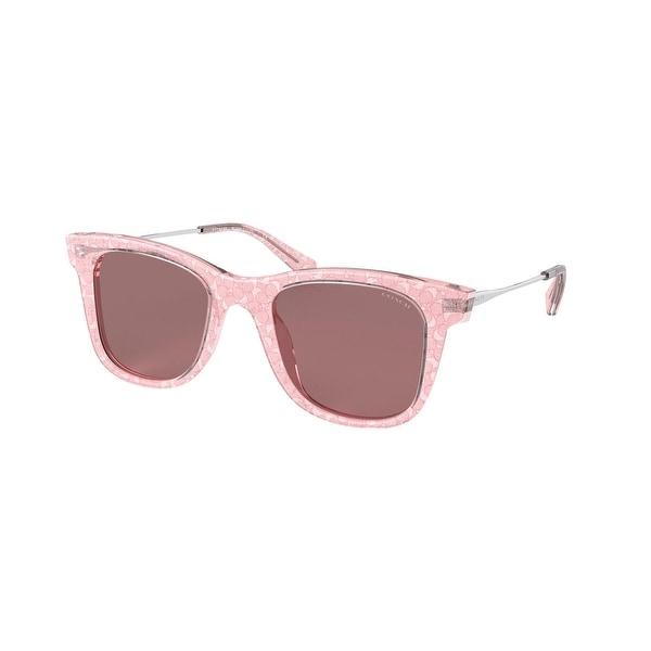 Coach HC8290 5586M6 50 Pink Glitter Signature C Woman Square Sunglasses. Opens flyout.