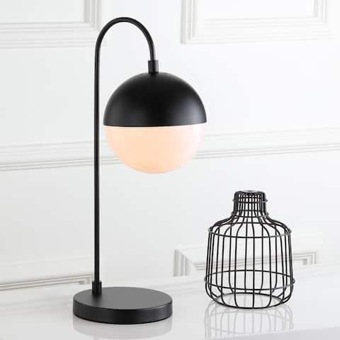 "SAFAVIEH Lighting 21-inch Mid-Century Black Cappi LED Task Table Lamp - 9.75""x7""x20.5"""