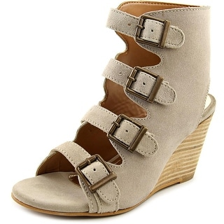 Diba True In Vited   Open Toe Leather  Wedge Heel
