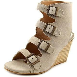 Diba True In Vited Women Open Toe Leather Ivory Wedge Heel