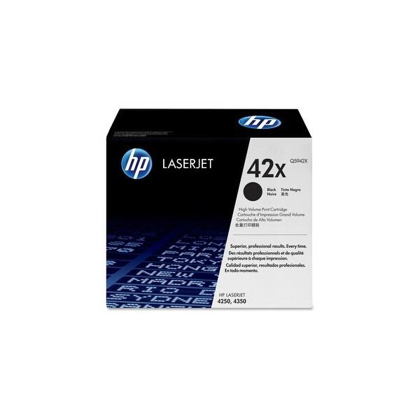 HP 42X High Yield Black Original LaserJet Toner Cartridges (Q5942X)(Single Pack)