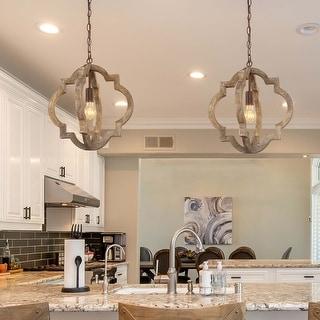 "Link to Modern Farmhouse Pendant Vintage Lantern Chandelier Lighting for Kitchen - D 16""x H 17.5"" Similar Items in Pendant Lights"