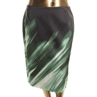 Lafayette 148 Womens Slim Pattern Pencil Skirt