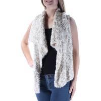 KENSIE $99 Womens New 1150 Beige Sleeveless Open Cardigan Casual Sweater M B+B