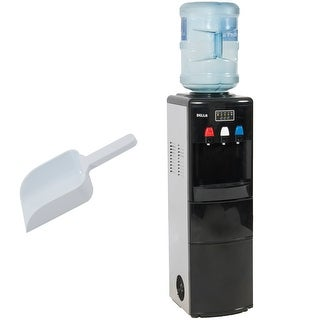 Della 2-in-1 Multi-Function Water Dispenser w/ Built-In Ice Maker Machine Watercooler