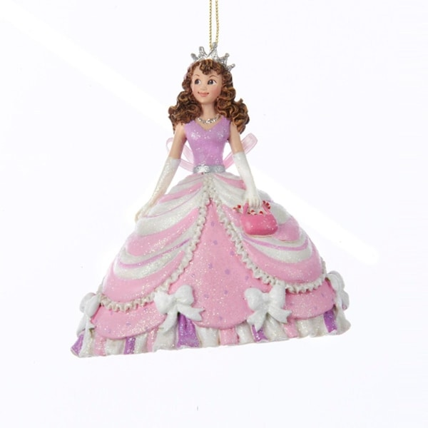 "4.25"" Cotton Candy Pink Pretty As A Princess ""Hayley"" Decorative Christmas Ornament"