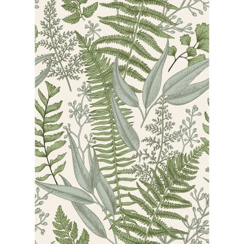 "Ferns Botanical Light Peel and Stick Wallpaper - 25""W x 200""H"