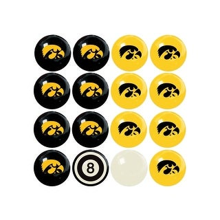 NCAA Iowa Billiard Balls Complete Set of 16 Balls