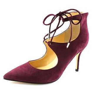 Ivanka Trump Deenal Women Pointed Toe Suede Burgundy Heels