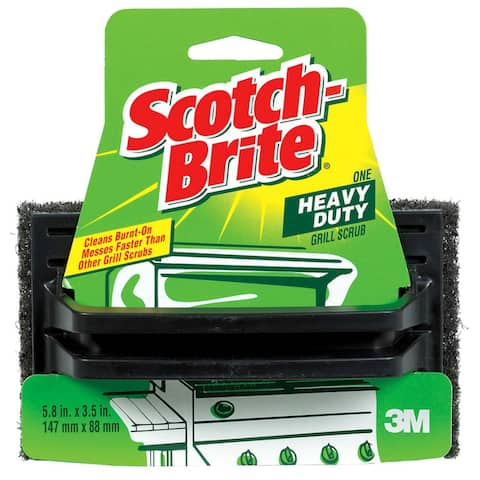 "Scotch-Brite 7721 Heavy Duty Grill Scrub, 3.5"" W x 5.8"" L"