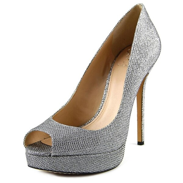 Vince Camuto Lorim Women Open Toe Synthetic Silver Platform Heel