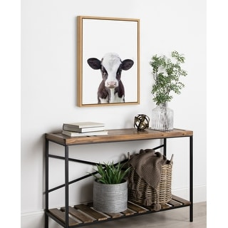 Link to Kate and Laurel Sylvie Baby Cow Portrait Framed Canvas by Amy Peterson Similar Items in Canvas Art