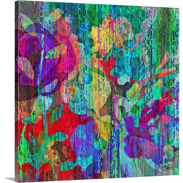 """Floral Frenzy"" Canvas Wall Art"