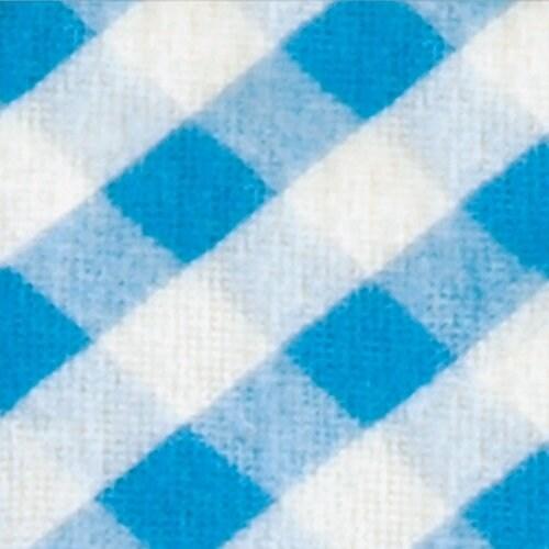 Bibby Mat Color: Blue / Orange Gingham
