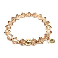 "Gold Crystal Rachel 7"" Bracelet"