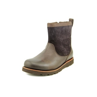 Ugg Australia Munroe Men Round Toe Leather Brown Ankle Boot