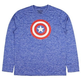 Marvel Men's Captain America Shield Long Sleeve Athletic T-Shirt (2 options available)