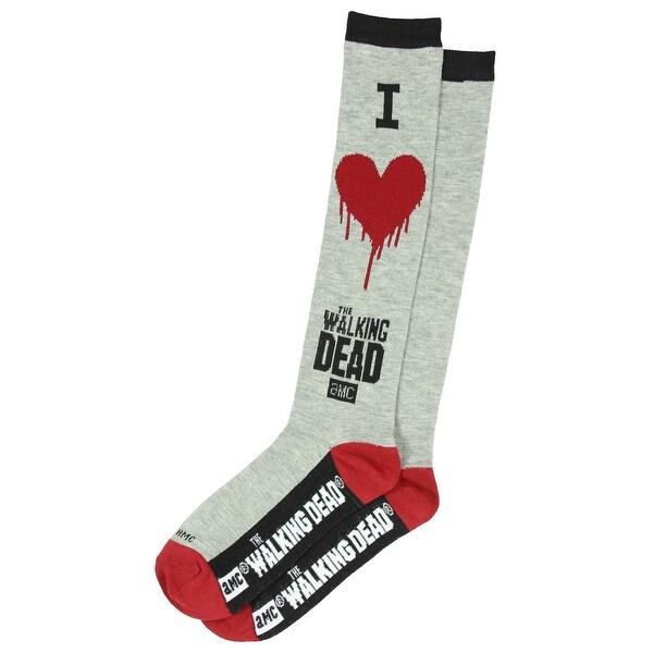 Walking Dead I Heart The Walking Dead Womens Knee High Socks