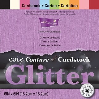 """Core'dinations Core Couture Cardstock Pack 6""""X6"""" 30/Pkg-Glitter"""