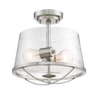 Designers Fountain 87011 Darby 2 Light Semi Flush Ceiling Fixture