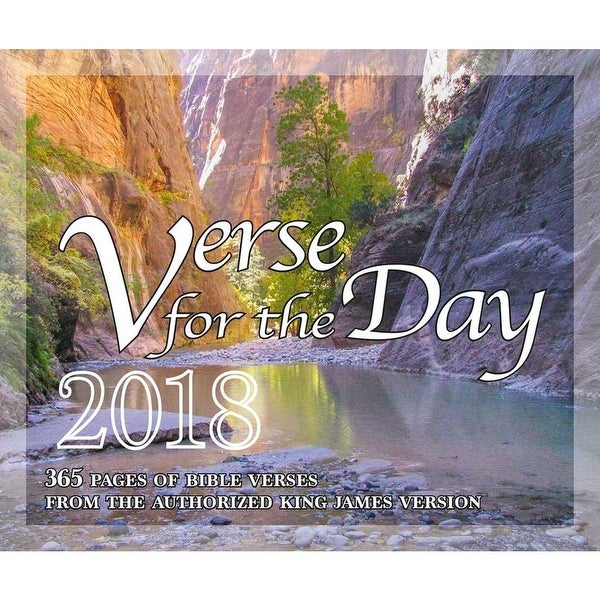 2019 Daily Desk Calendar with KJV Scripture Desktop
