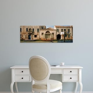 Easy Art Prints Panoramic Images's 'Boats in a canal, Grand Canal, Rio Della Pieta, Venice, Italy' Premium Canvas Art