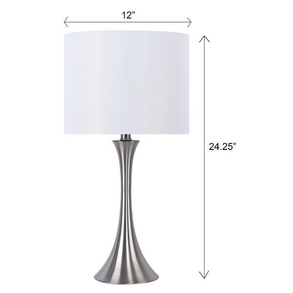 Porch & Den Bakkom Brushed Nickel 24.25-inch Table Lamp Set