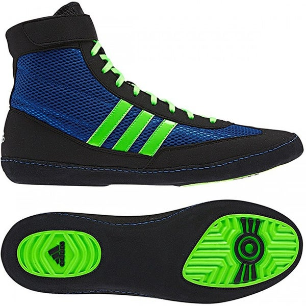 Adidas Combat Speed 4 Wrestling Shoes - Royal/Green/Black