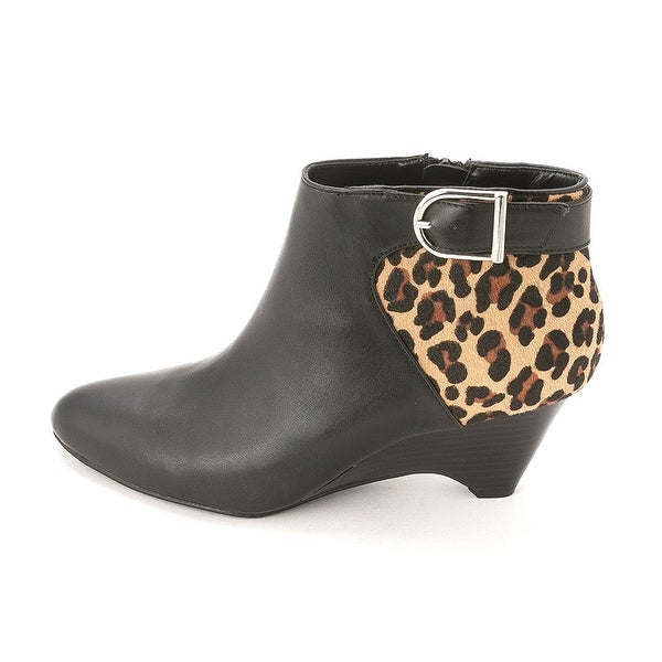 Alfani Womens ULRIKA Leather Closed Toe Platform Boots