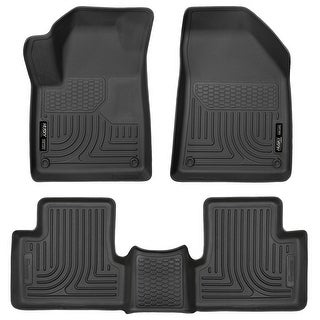 Husky Weatherbeater 2015-2016 Jeep Cherokee Black Front & Rear Floor Mats/Liners