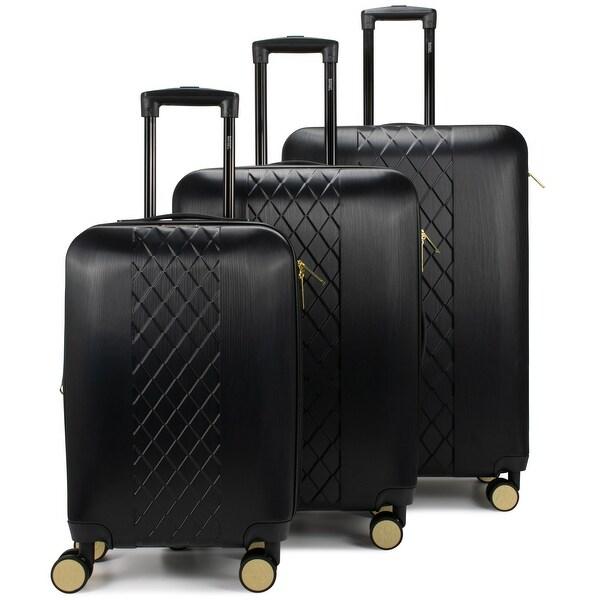 Badgley Mischka Diamond Hard Expandable Spinner Luggage Set (3 Piece). Opens flyout.