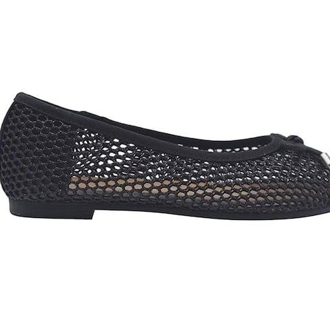 Bebe Girls Ballet Flats Little Kid Glitter Mesh Slip On Sandals