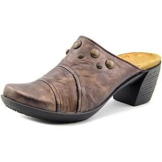 Romika Luna 02 Round Toe Leather Clogs