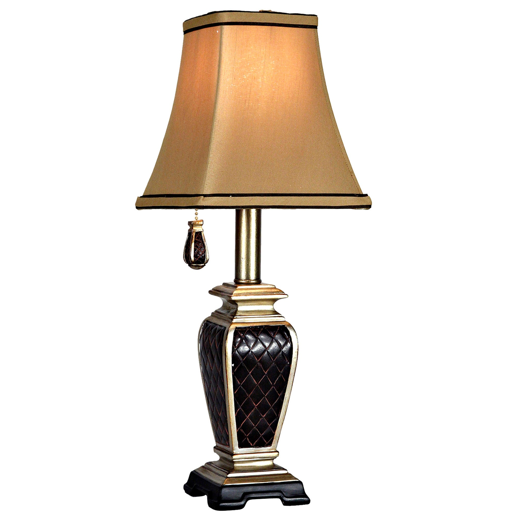 Delacora SC-L1-1004 Brompton 18/'/' Tall Accent Table Lamp with Fabric Shade